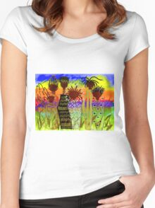Rainbow Sisters T-Shirt Women's Fitted Scoop T-Shirt