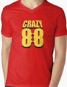 Crazy 88 Masks & Shadow (yellow) Mens V-Neck T-Shirt