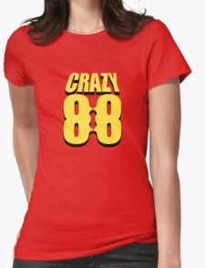 Crazy 88 Masks & Shadow (yellow) Womens Fitted T-Shirt