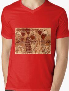 Sepia Sisters T-Shirt Mens V-Neck T-Shirt