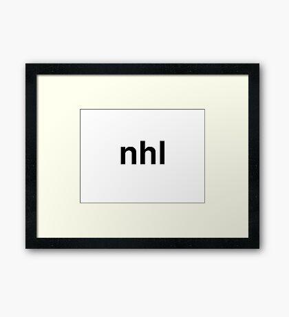 nhl Framed Print