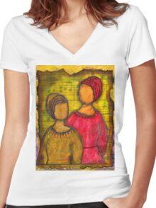 Soul Sistahs T-Shirt Women's Fitted V-Neck T-Shirt