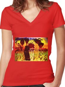 Southern Sisters T-Shirt Women's Fitted V-Neck T-Shirt