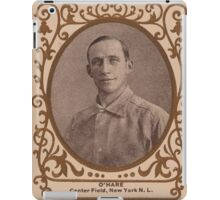 Benjamin K Edwards Collection O'Hara New York Giants baseball card portrait iPad Case/Skin
