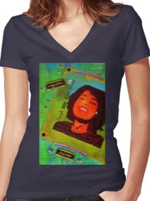 The Glow of Self-DISCOVERY T-Shirt Women's Fitted V-Neck T-Shirt