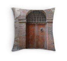 Lion Door, Firenze Throw Pillow