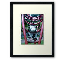 Moo Moo Hanging Out Framed Print