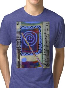 The Spiral Pane T-Shirt Tri-blend T-Shirt
