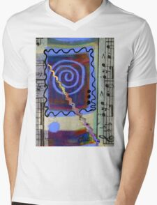 The Spiral Pane T-Shirt Mens V-Neck T-Shirt