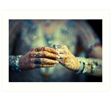 Brides hands Art Print