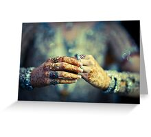 Brides hands Greeting Card