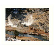 Hot Volcanic Steam Art Print