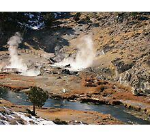 Hot Volcanic Steam Photographic Print