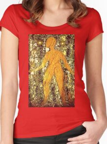 """""""Unadorned"""" T-Shirt Women's Fitted Scoop T-Shirt"""