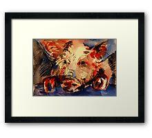 """""""Piggy"""" Framed Print"""