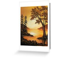 Acrylic - Golden Sunset Greeting Card