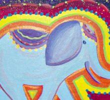 Elephant Dreams Original Painting ~ Rainbow Blossom Sticker