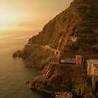 Sunset Over Riomaggiore by Chad M