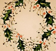 Xmas wreath by Elizabeth Moore Golding