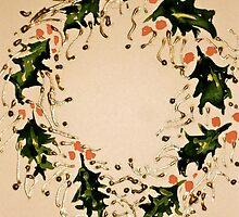 Xmas wreath by Elizabeth Moore Golding