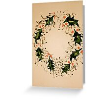 Xmas wreath Greeting Card