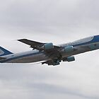 92-9000 Air Force One Taking Off by Henry Plumley