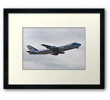 92-9000 Air Force One Taking Off Framed Print