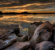 Sundown on the Rocks by Bob Larson