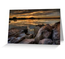 Sundown on the Rocks Greeting Card