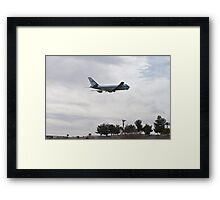 92-9000 Air Force One Over Palm Trees Framed Print