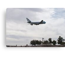 92-9000 Air Force One Over Palm Trees Canvas Print