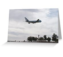 92-9000 Air Force One Over Palm Trees Greeting Card