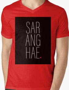 SARANGHAE - I love you. Mens V-Neck T-Shirt