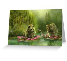 Bear Dreaming Greeting Card