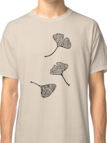 Ginkgo Vector Black on Warm Grey Classic T-Shirt