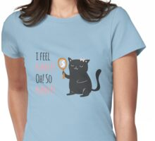 Catty Thoughts! Womens Fitted T-Shirt