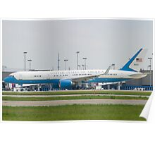 90003 Air Force Two Boeing VC-32A 757-2G4 Taxi KCLE Poster