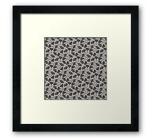 Ginkgo Vector Black on Warm Grey Framed Print