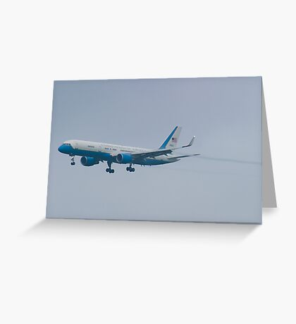 Side Shot 90003 Air Force Two Boeing VC-32A 757-2G4 On Approach Greeting Card