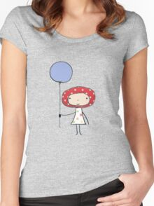 Balloon girl Women's Fitted Scoop T-Shirt