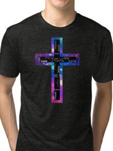 Cross of Words Tri-blend T-Shirt