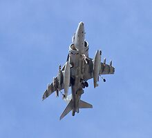 AV8B Harrier On Approach Belly Shot by Henry Plumley