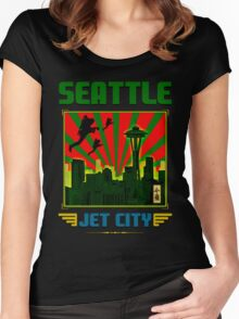 SEATTLE - JET CITY Women's Fitted Scoop T-Shirt