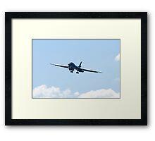 B-1B Bomber. DY AF 85 080, Head On Framed Print