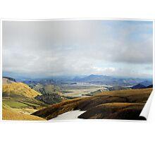 Magic view of Landmannalaugar valley Poster