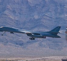 DY AF 84-0058 B-1B Lancer Take Off by Henry Plumley