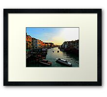 evening on the Grand Canal Framed Print