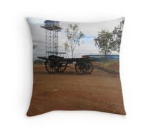 'Boulia's' water supply & old cart. Town exhibit .Outback Queensland. Throw Pillow