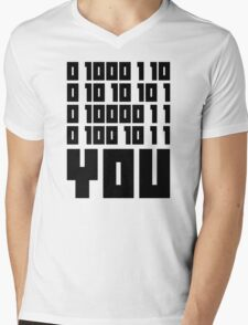 Fuck You - Binary Code Mens V-Neck T-Shirt