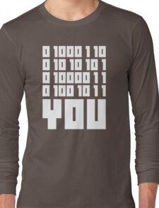 Fuck You - Binary Code Long Sleeve T-Shirt